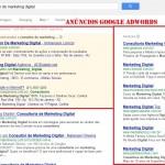 Tela de Anúncios no Google Adwords